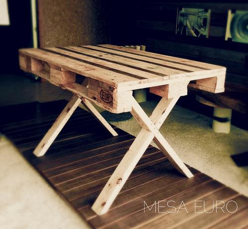 Mesa comedor picnic 4 pers para exterior de madera reciclada 2 en mercadolibre - Mesa madera reciclada ...