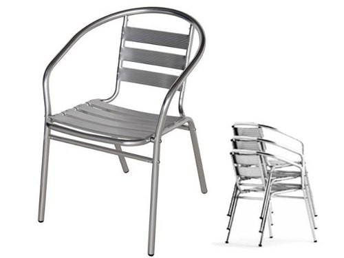 Mesa de aluminio o sillas bar restaurant cafe negocio for Sillas para negocio