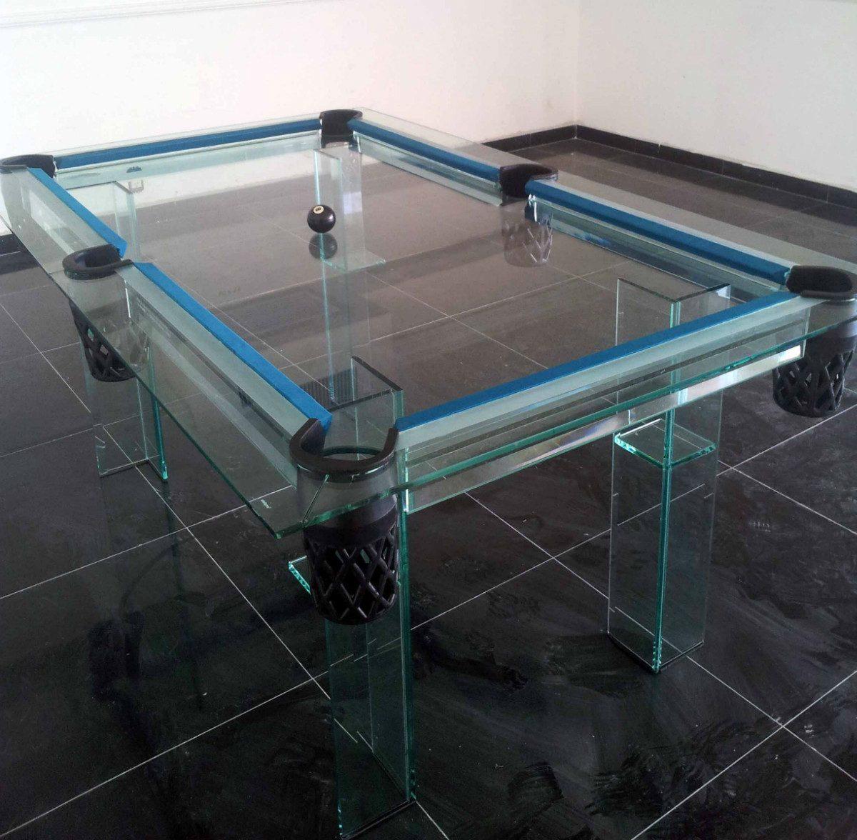 Mesa de billar en cristal en mercadolibre for Cristal mesa