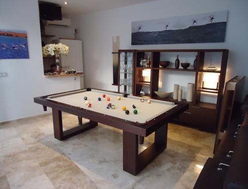 Mesa de billar moderna con accesorios 16 en for Accesorios de mesa de billar