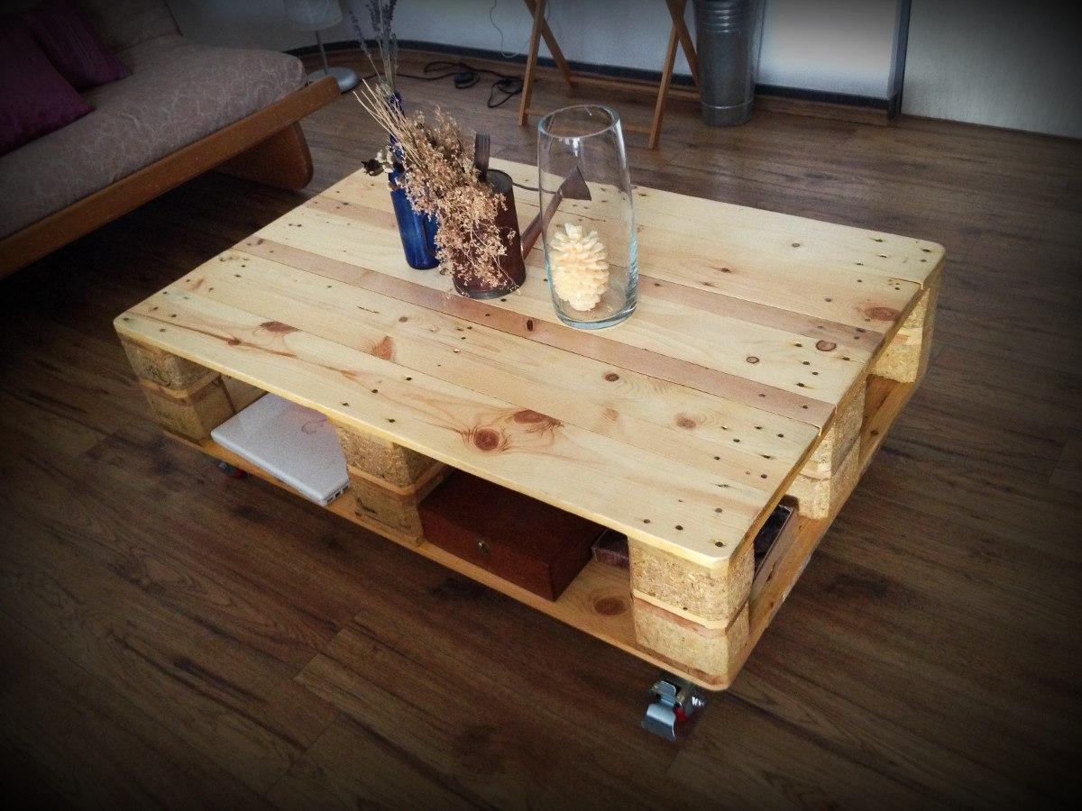 Mesa de centro de madera reciclada 2 en - Mesas de centro con cajones ...