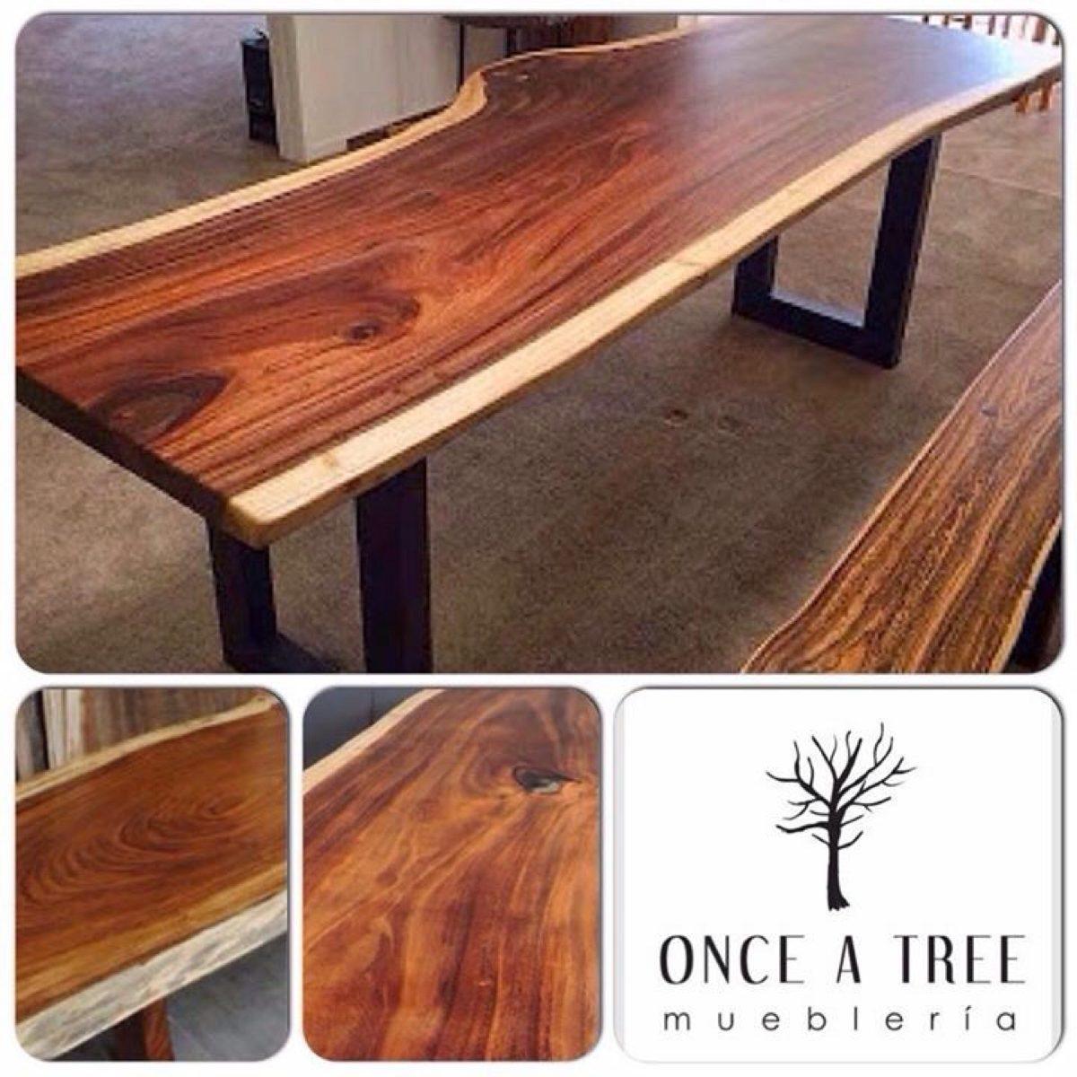 Mesa de comedor tronco de madera de parota rebanada for Precios de mesas de comedor de madera