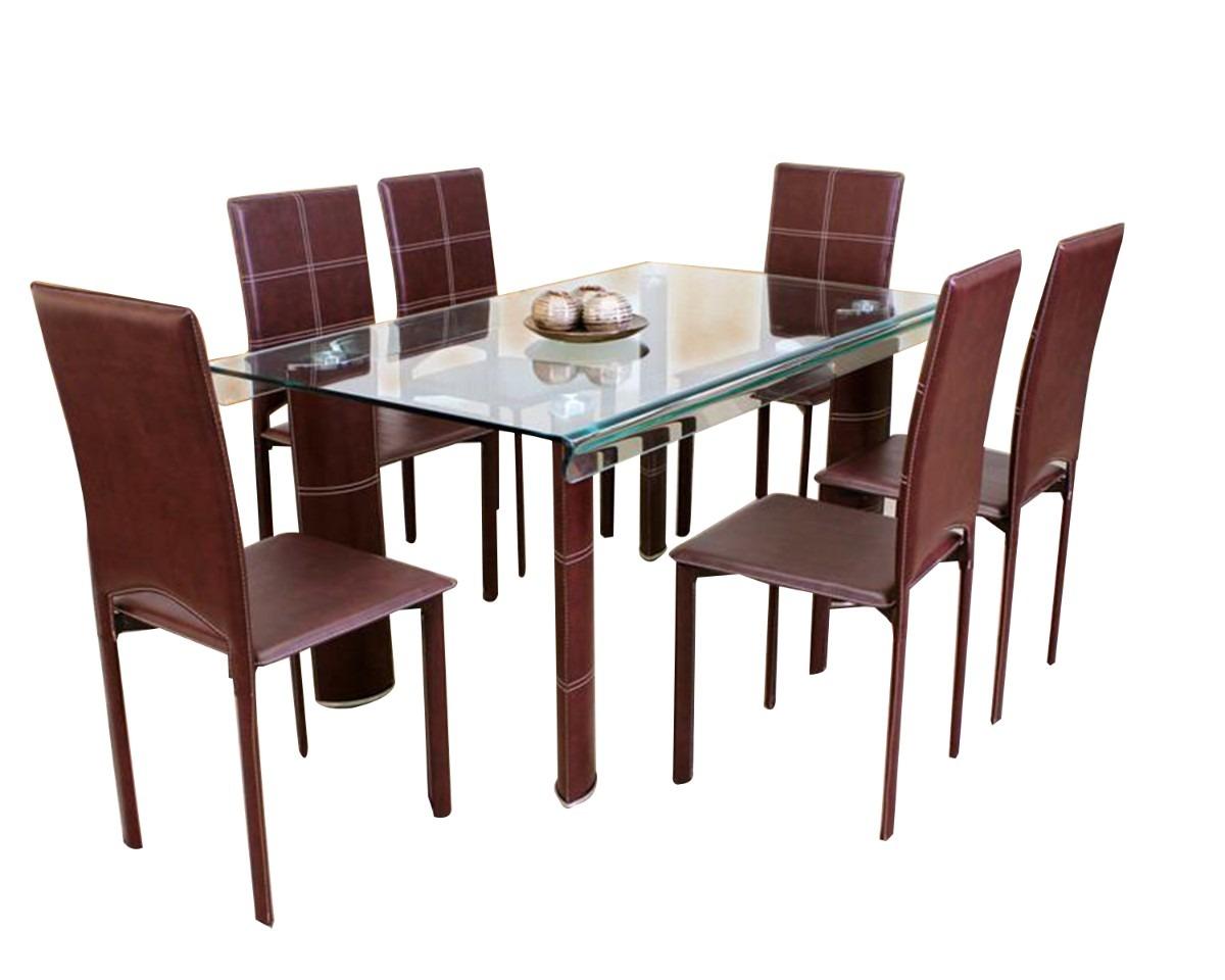 Mesa comedor 6 personas great solo para que tengas una for Mesa cristal 4 personas