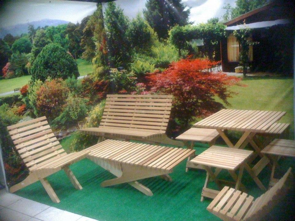 Mesa de jard n mueble plegable madera jardin o interiores - El mueble jardines ...