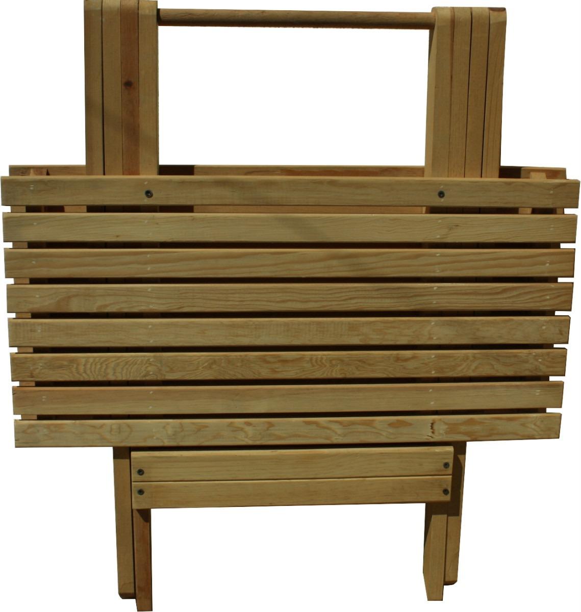 Mesas plegables madera muebles de madera para jardin for Madera para jardin