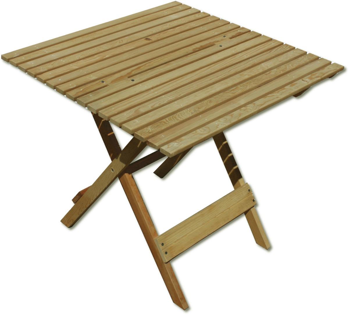 Mesa de jard n mueble plegable madera jardin o interiores - Mesas de madera de jardin ...
