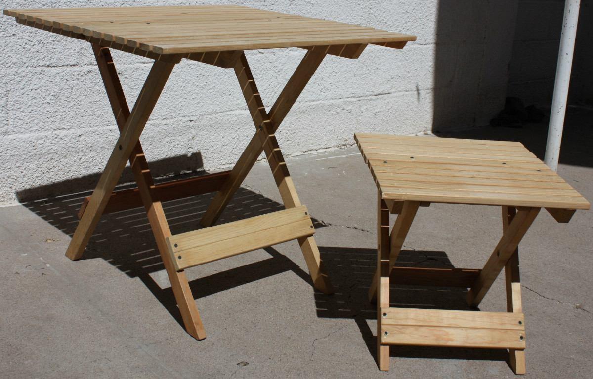 Mesa de jard n mueble plegable madera jardin o interiores for Muebles de madera para jardin