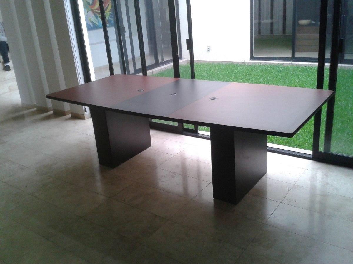 Mesa de juntas 10 personas elegante metal melamina - Como hacer una mesa escritorio ...