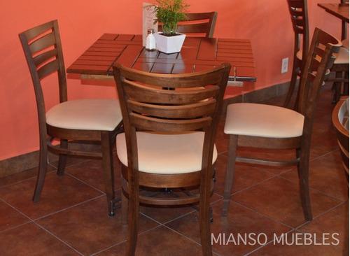Mesas de madera rusticas para restaurante images for Muebles para cafeteria precios
