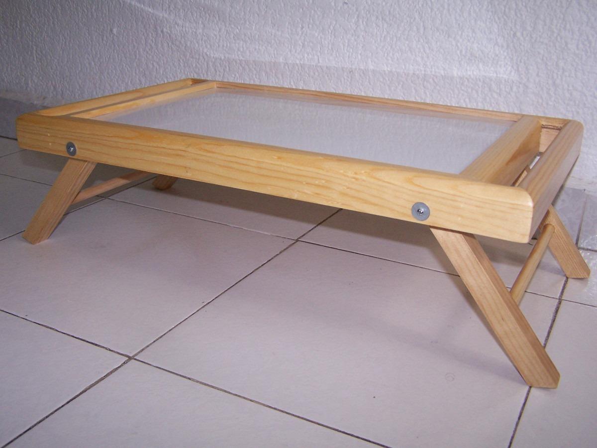 Mesa de madera para servicio en cama en - Mesa para la cama ikea ...