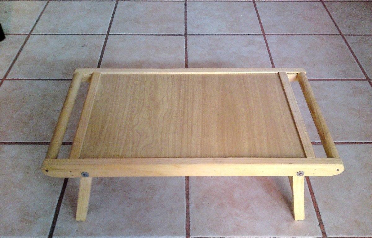 Mesa de madera plegable para servicio a cama o laptop for Mesa plegable de madera