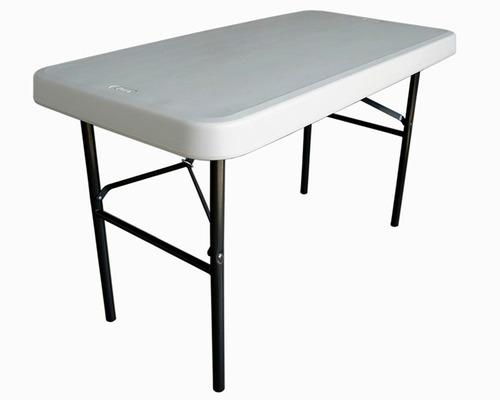 Mesa de plastico verona plegable beige en mesas de for Mesa plastico jardin