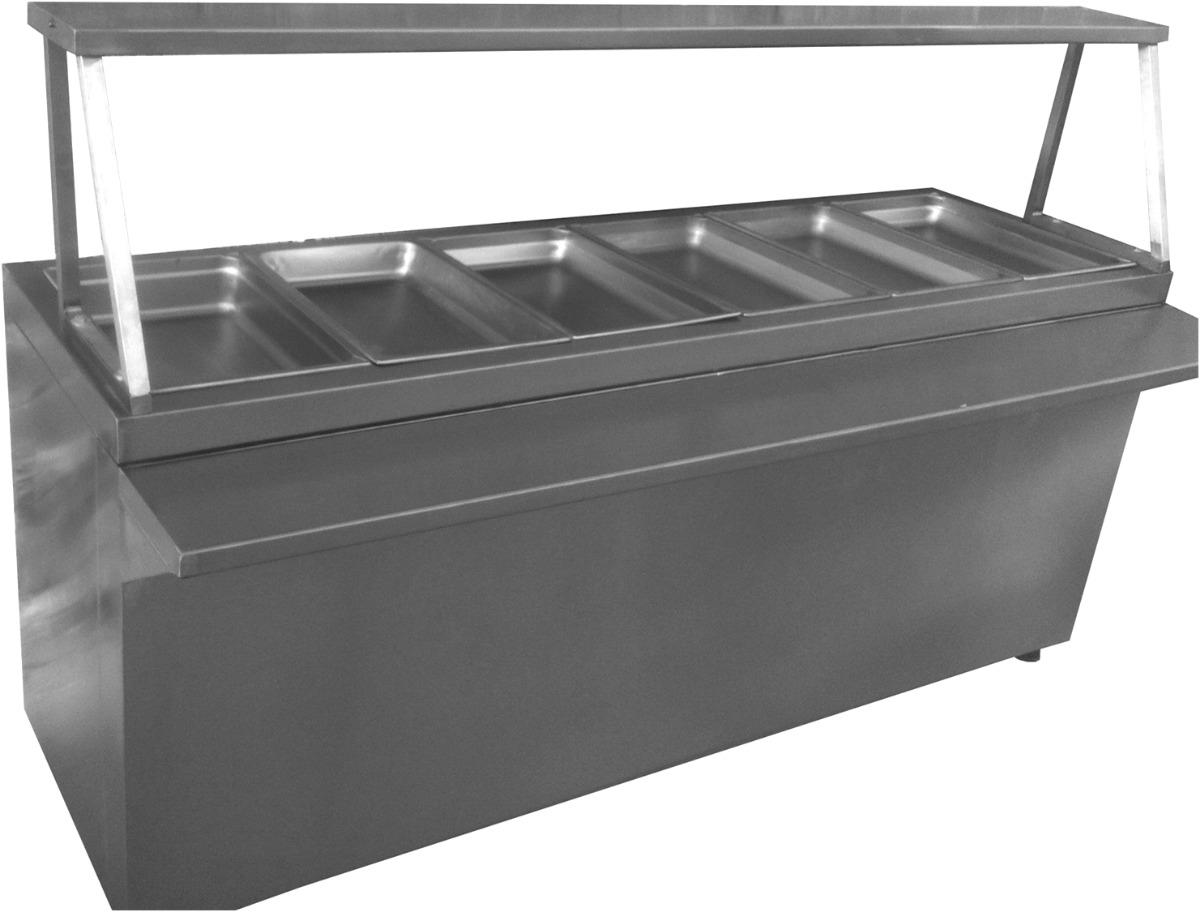 Mesa fria para buffet de ensaladas acero inoxidable for Mesa de cocina industrial