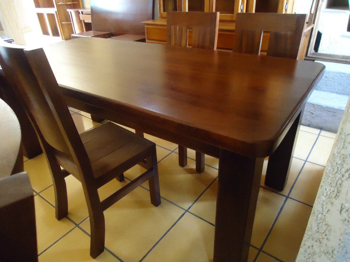 Mesa para comedor diez lugares madera solida 8 for Madera para comedor