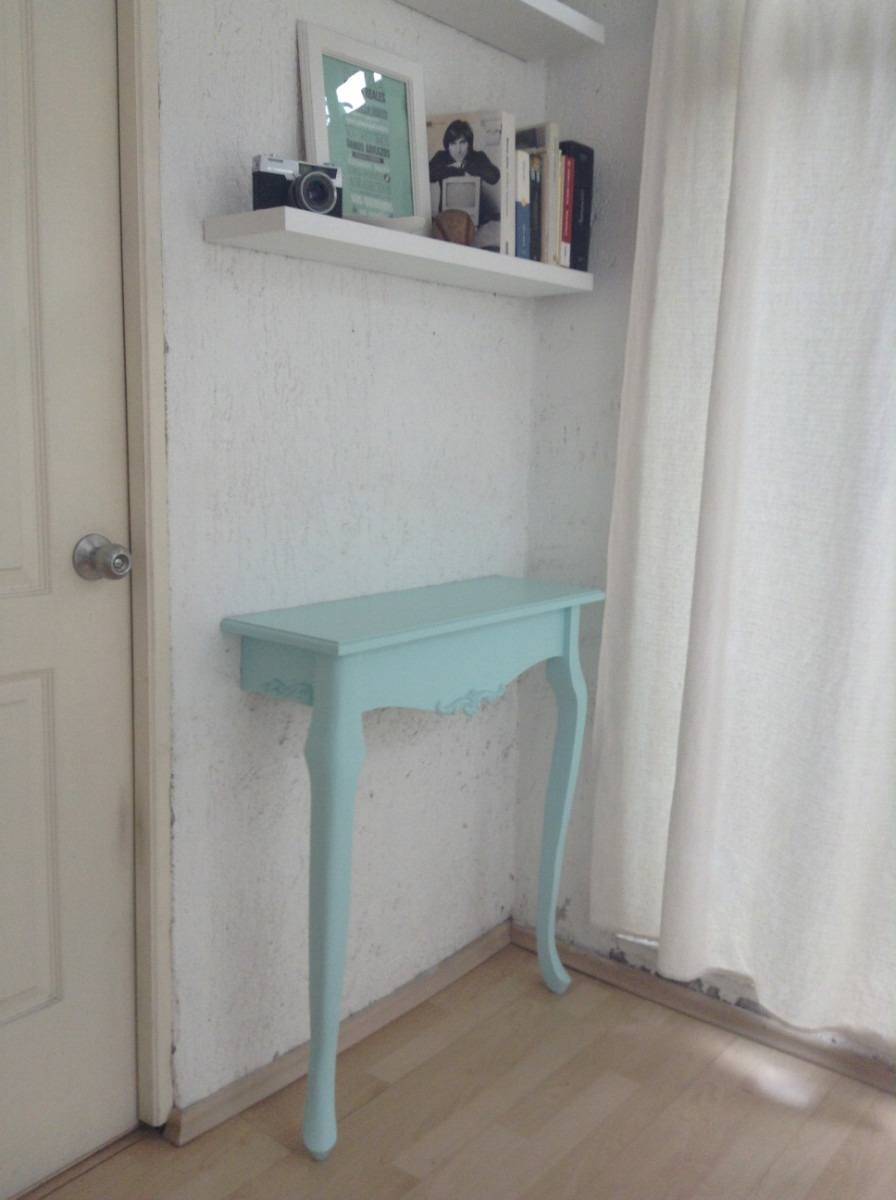Mesa Recibidor Estilo Vintage Color Menta O Blanco Antiguo  $ 1,300