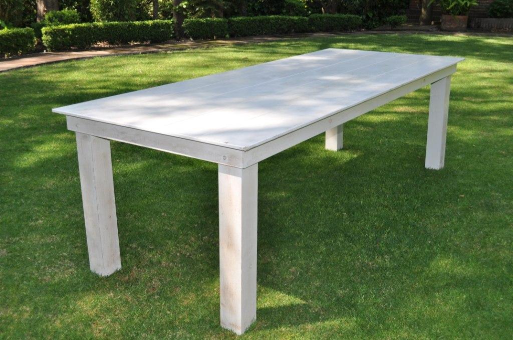 Mesa rectangular madera vintage 3 en mercadolibre for Mesas esquineras de madera