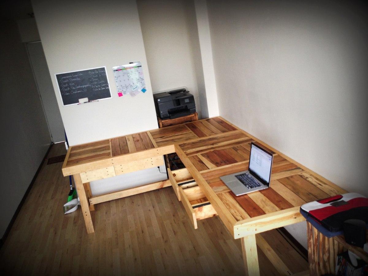 Mesa trabajo o comedor 80cms ancho de madera reciclada - Mesa madera reciclada ...