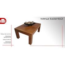 Mesa De Centro Estambul Chocolate - Mueblemoda
