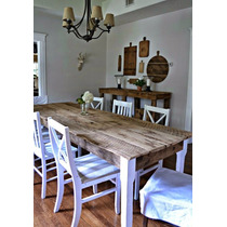 Mesas Comedor Rústicas Vintage Sustentable Atu Medida 6 Pers