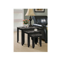 Elegante Set De Mesas Decorativas Con Mármol Monarch Black