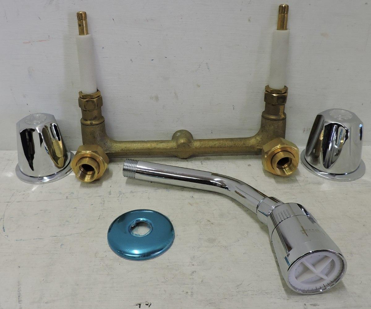 Mezcladora para empotrar con regadera rugo 36 pf 539 for Mezcladora para regadera