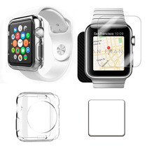Funda Transparente Y Mica Cristal Templado Para Apple Watch
