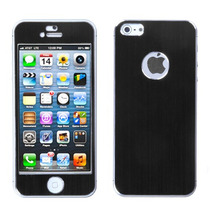 Sticker Protector Metalico Iphone 5 Negro