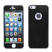 Sticker Protector Metalico Iphone 5 Negro