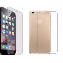 2 Micas Vidrio Templado Iphone 6 Y 6 Plus Frontal Y Trasera