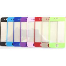 Mica Cristal Templado Iphone 4 4s 5 5c 5s En Color