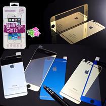 Mica Cristal Templado Color Frontal Trasera Iphone 6 6s Plus