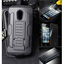 Kit Uso Rudo Tipo Survivor Y Cristal Templado Iphone 6 Plus