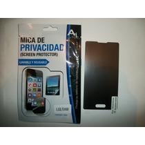 Mica Protectora Lg Optimus L5x De Privacidad!!!