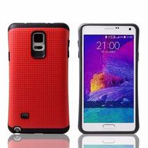 Funda Tpu Rigida Roja Negro + Cristal Templado Samsung A7