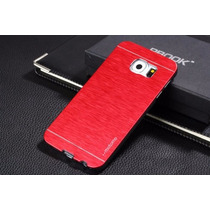 Funda Rigida Parte Metalica En Rojo Para Samsung S6