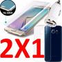 Protector Cristal Templado Galaxy S6 Edge Curvo 9h .26m Mica