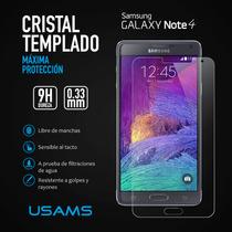 Mica Protector Cristal Templado Samsung Galaxy Note 4 Usams