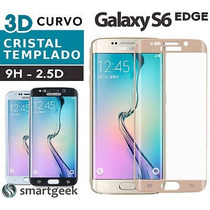 Mica Cristal Templado Glass Samsung S6 Edge Curvo Colores