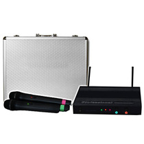 Microfonos Set De Lujo 2 Inalámbricos + Receptor New E-xaris