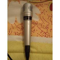 Microfono Alambrico Plateado Nakazaki Para Karaoke