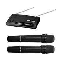 Microfono Inalambrico Profesional Vhf 2 Canales Alcance 50 M