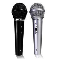 Kit 2 Microfonos Alambricos Karaoke Negro/plata