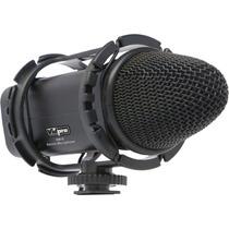 Micrófono Condensador Estéreo Para Videocámaras Y Dslr Xm-s