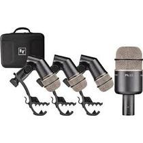 Microfonos Para Bateria Kit Electro Voice Pl-dk4