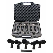 Kit 7 Microfonos Para Bateria + Accesorios