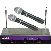 Gemini Vhf2001 Microfonos Inalambricos Para Musicos Karaoke