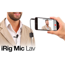 Irig Mic Lav Microfono Lavalier Pro Para Iphone Ipad Android