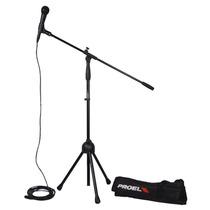 Microfono Proel Set Microfono Stand Funda Y Cable Pse3