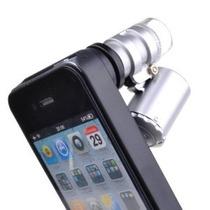 Mini Lupa Microscopio Zoom 60x Con Led Uv Para Iphone 4 Y 4s