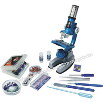 Microscopio Metal 900x Set C/ Maletin Y Accesorios 50 Pzas.